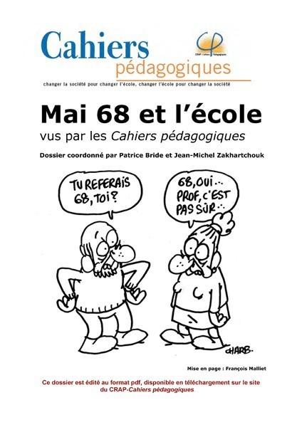 Mai 68 et l'école, vus par les Cahiers pédagogiques