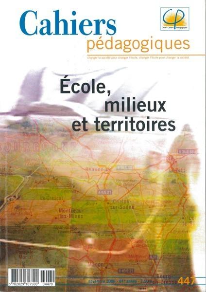 Ecole, milieux et territoires