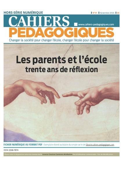 Les parents et l'école : trente ans de réflexion