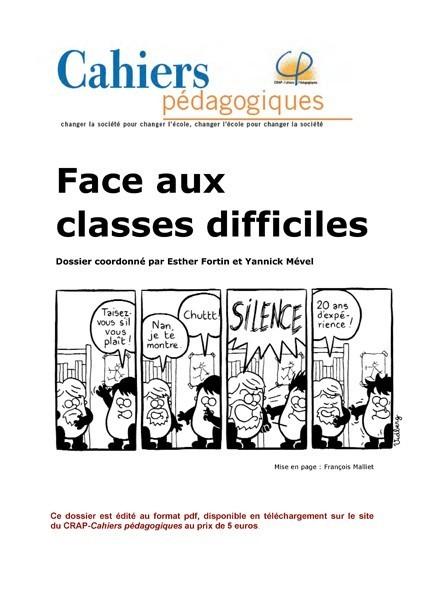 Face aux classes difficiles