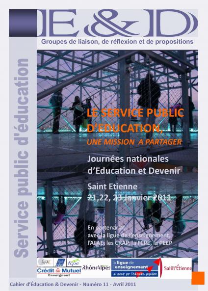 Le service public d'éducation : une mission à partager